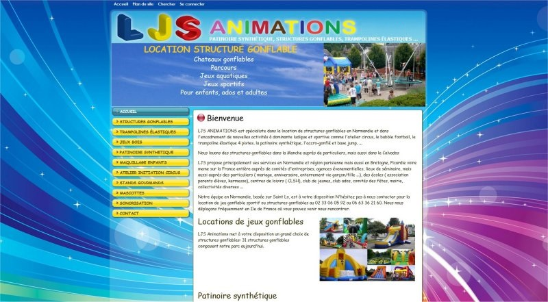 animations gonflables site web
